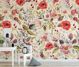 removable wallpaper for kids rooms large scale floral wallpaper
