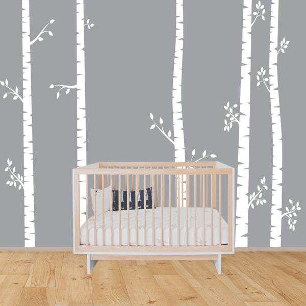 EXTRA LARGE Birch trees decals:wall decals, nature wall decals, vinyl wall decal, nature wall decal stickers, birch tree, nursery stickers