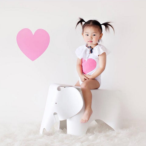 Single Heart Decal LARGE Heart Wall Decal Heart Decal Heart Vinyl Decal Girl Bedroom Wall Decal Baby Nursery Decal Teen Room Wall Home Decor Love Decal