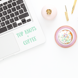 Laptop Decal Top Knots and Coffee Coffee Decal Top Knots And Coffee Decal Coffee Laptop Decal Coffee Sticker Top Knots and Coffee Sticker Laptop Sticker iPad Decal Phone