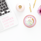 Drink Coffee and Own the Day Decal - Laptop Decal - iPad Decal - Coffee decal - Coffee Sticker - Drink Coffee Sticker - Girl Boss Decal