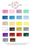 Color Chart, Wall Decal Color Chart, Colour Chart, Vinyl Color Chart