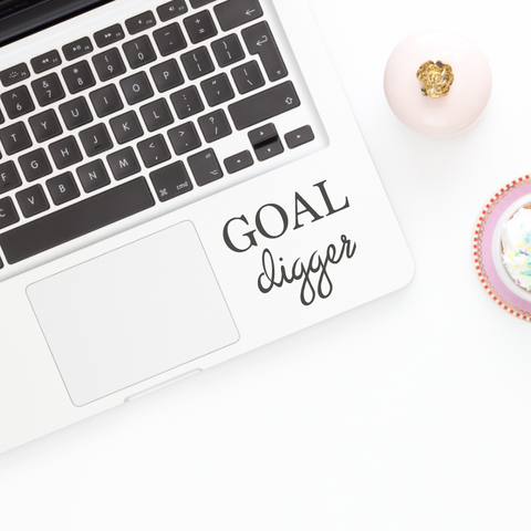 Goal Digger Vinyl Decal Sticker // car decal, laptop decal, car sticker, laptop sticker, mirror decal