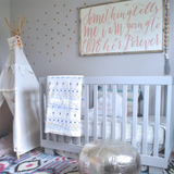 Gold Polka Dot Wall Decals DIY for your Nursery from rockymountaindecals.ca #nurseries #kidsrooms #kidsdecor #kidstyle #nursery