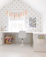 Gold Dot Decals for Nursery and Kids Rooms from rockymountaindecals.ca Gold Polka Dot Wall Decals Girls Nursery Muurstickers