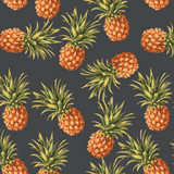 Pineapple Wallpaper, Removable Wallpaper, Self-adhesive Wallpaper, Tropical Wall Décor, Tropical Wallcovering, Pineapple Wall Decals