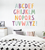 Alphabet Boys Nursery ABCs Wall Decals Learning Set Letters Set Children Safe Vinyl Kids Wall Decal Nursery Wall Decal Wall Decals Nursery