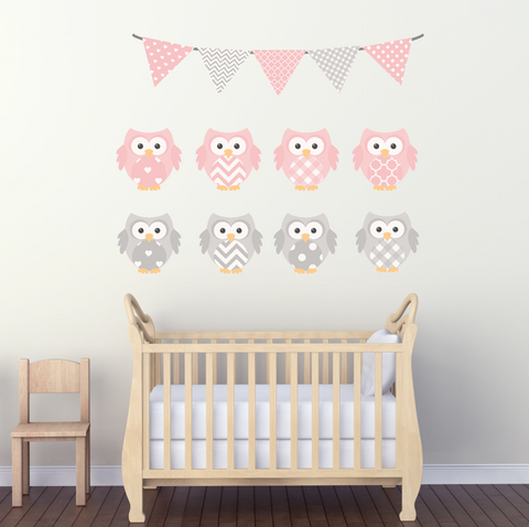 Nursery Decals   Wall Decal   Owl Decal   Flowers   Decal   Girl Decals  Vinyl Part 39
