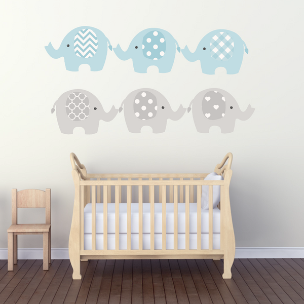 Baby Boys Decals - Boys Room Decals - Baby Room Stickers - Baby Room Decals - Nursery Deco - Nursery Decor Safari Theme Decor Elephant Decal