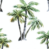 Palm Tree Wallpaper - Removable Wallpapers - Floral Palm Tree Wallpaper - Self Adhesive Wall Decal - Temporary Peel and Stick Wall Art, RMD