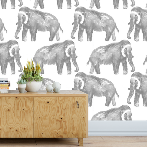 Wooly Mammoth Wallpaper (Self-Adhesive)
