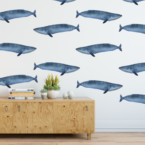 Whale Wall Decal, Animal Decal,boy room decal whales Wall Decal, watercolor Wall Decal,Wall Art,Vinyl Wall Decal, animal decals, whales
