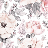 Rose and Peony Wallpaper
