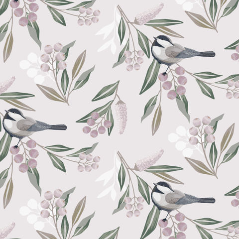 Grey Sparrow Wallpaper (Self-Adhesive)