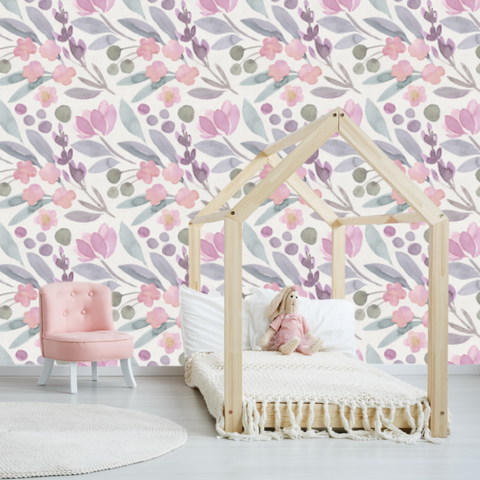 Folklaw floral wallpaper, Wallpaper, Removable Wallpaper