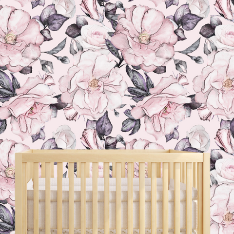 Baby Girl Nursery Wallpaper
