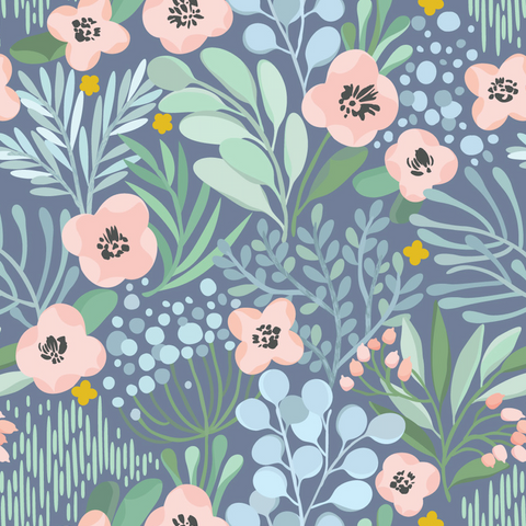 Delicate Blossom Wallpaper (Self-Adhesive)