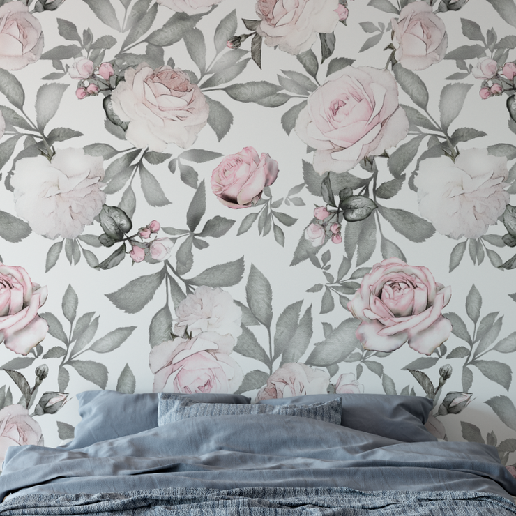Roses removable wallpaper