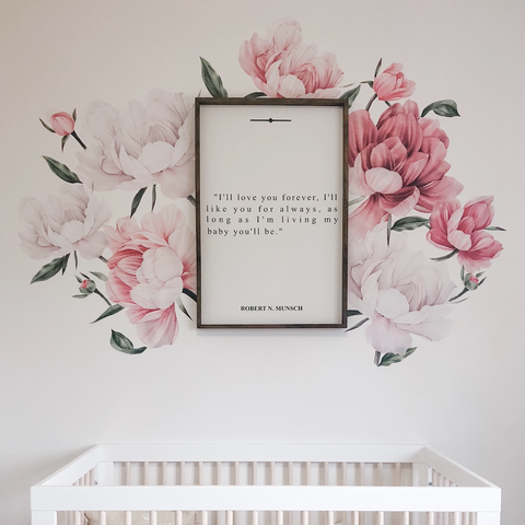 Bloom where you are planted flower wall decals