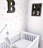 Star Wall Decals Silver DIY Home Decor from rockymountaindecals.ca #nurseries #kidsrooms #nursery