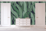 Tropical Wallpaper with banana leaves