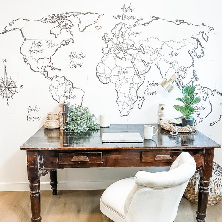 Voyager World Map Decal