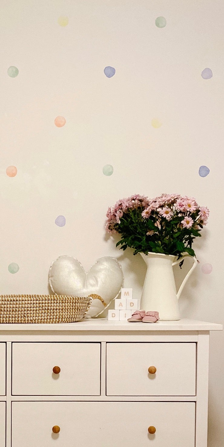 Candy Store Watercolor Wall Dots