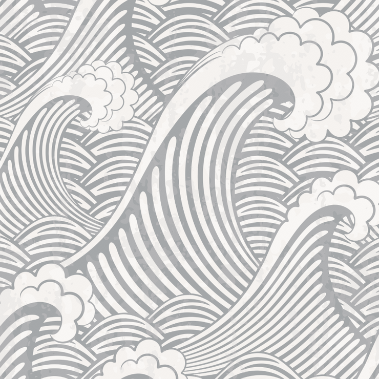 Grey Waves Wallpaper (Peel & Stick)