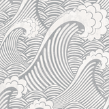 Grey Waves Wallpaper (Self-Adhesive)