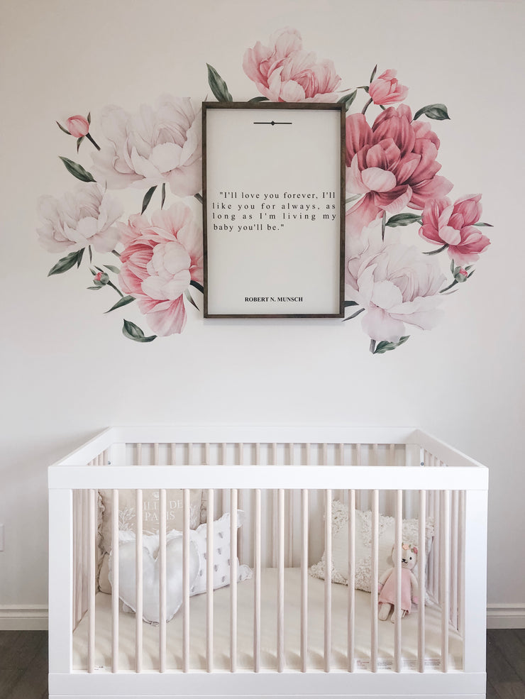Baby girl nursery blush and pink