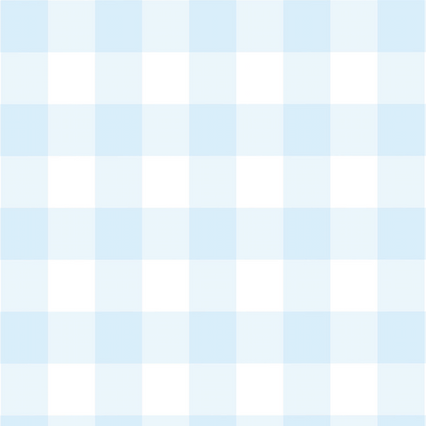 Blue Gingham Wallpaper (Self-Adhesive)