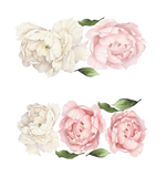 HALF ORDER: Peony Flower Wall Stickers