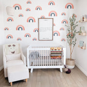 rainbow wall decals for baby nursery