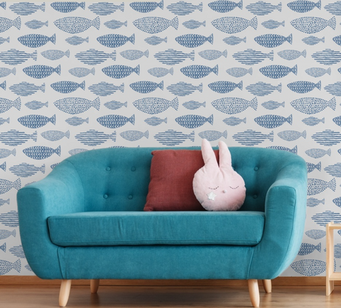 Watercolor Fish Wallpaper (Peel & Stick)