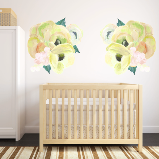 Yellow Blooms Wall Stickers