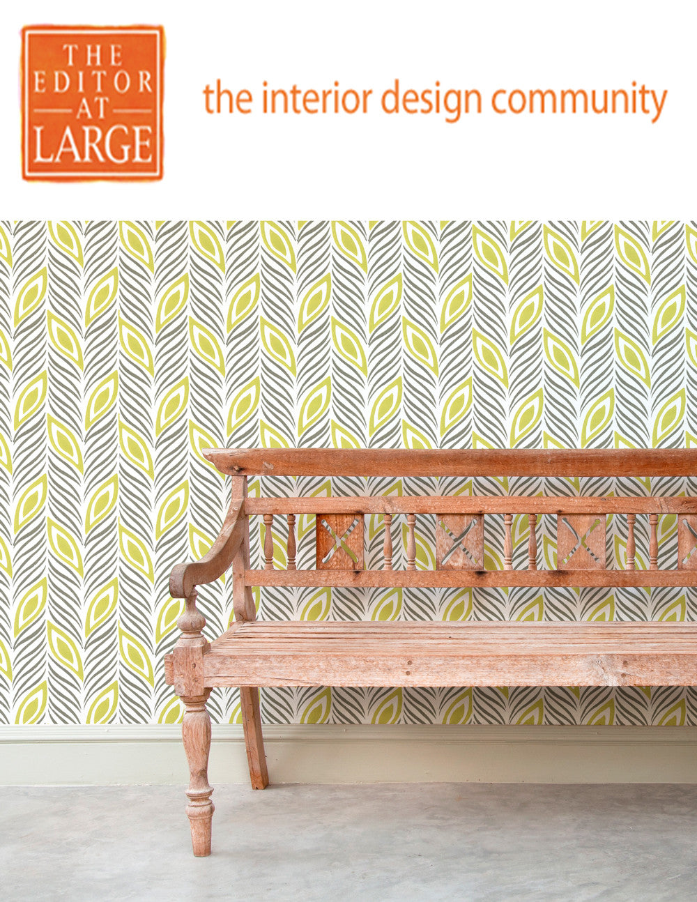 Sarah & Ruby bold, colorful, handprinted wallpaper featured in Editor at Large Lookbook