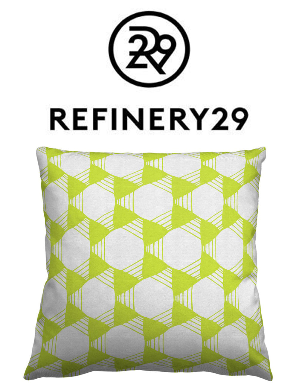 Fresh, geometric, colorful pillows designed by Sarah & Ruby for Guildery