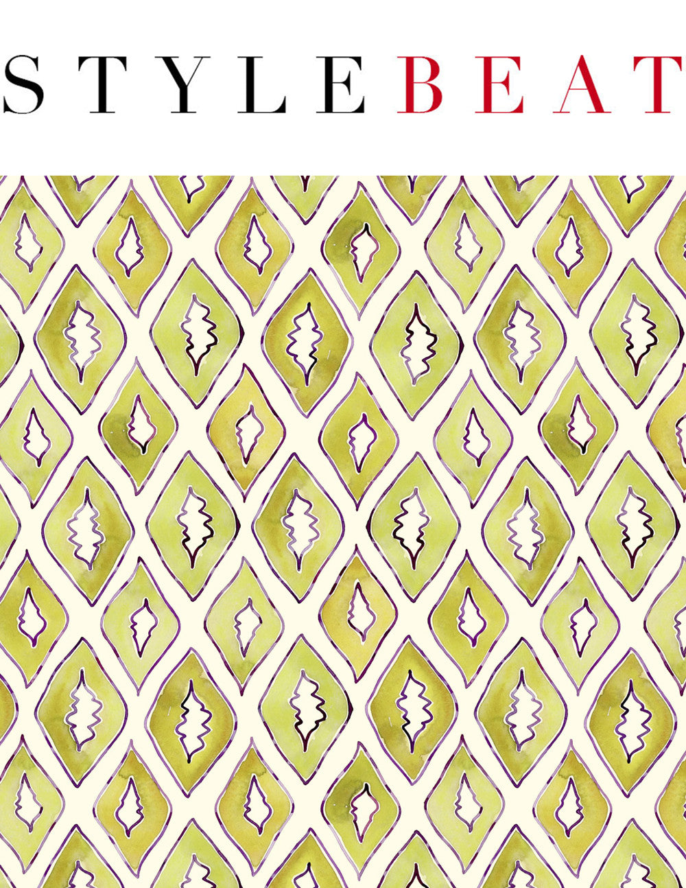 Boldly proportioned, colorful patterns by Sarah & Ruby