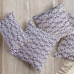 Bold, modern pillows inspired by traditional ethnic barkcloth and available at Minted.