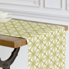 Bold, modern table linens inspired by traditional ethnic barkcloth and available at Minted.
