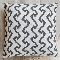 Modern pillows inspired by traditional Tapa cloth (aka Kapa cloth) and available at Minted.
