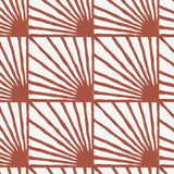 Catch Some Rays in Cayenne (red) | Hand block printed wallpaper by Sarah & Ruby | www.sarahrubydesign.com