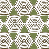 Caught In My Web in Moss | Hand painted wallpaper by Sarah & Ruby | www.sarahrubydesign.com