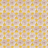 Caught In My Web in Saffron (yellow) | Hand-printed wallcovering by Sarah & Ruby | www.sarahrubydesign.com