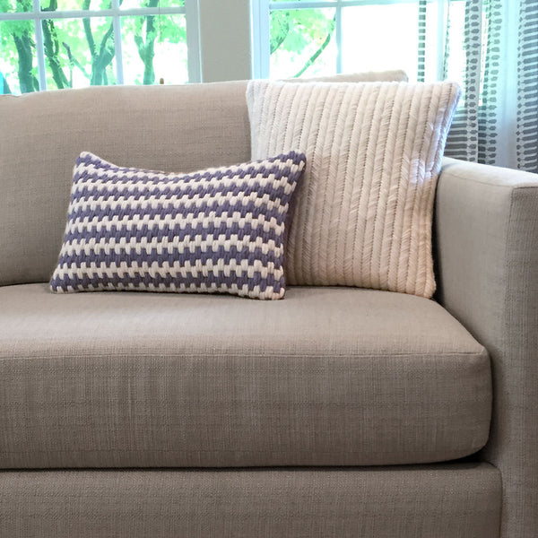 Super soft artisan made hand-stitched textured pillows. Wool and linen.