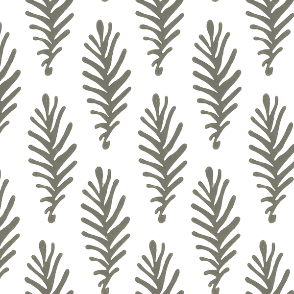 Don't Leave Me in Stone (gray) | Hand-block printed wallpaper by Sarah & Ruby | www.sarahrubydesign.com