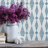 Go with the Flow in Blue | Handprint wallpaper by Sarah & Ruby | www.sarahrubydesign.com