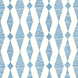 Go with the Flow in Blue | Hand-block printed wallpaper by Sarah & Ruby | www.sarahrubydesign.com