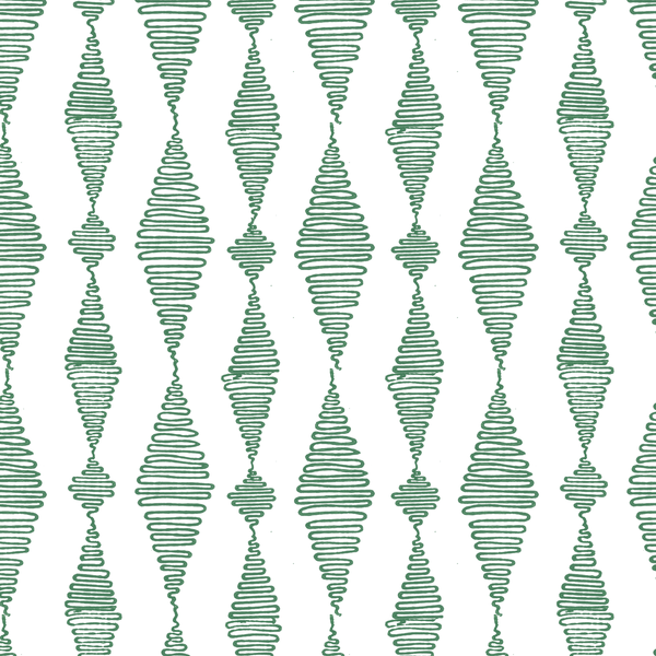Go with the Flow in Jade (teal green) | Hand-block printed wallpaper by Sarah & Ruby | www.sarahrubydesign.com