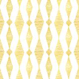 Go with the Flow in Saffron (yellow) | Hand-block printed wallpaper by Sarah & Ruby | www.sarahrubydesign.com